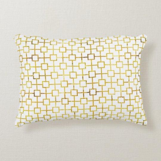 Gold Foil Cats Cradle Pillow