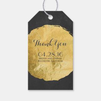 Gold Foil Chalkboard Wedding Gift Tags