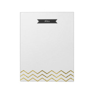 Gold Foil Chevron Notepad