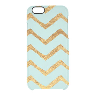 Gold Foil Chevron & Teal iPhone 6/6s Case iPhone 6 Plus Case