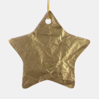 Gold Foil Christmas Ornament