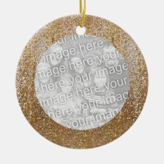 Gold Foil Christmas Photo Frame Ornament
