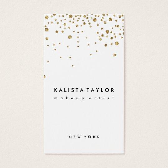 Gold foil confetti business card