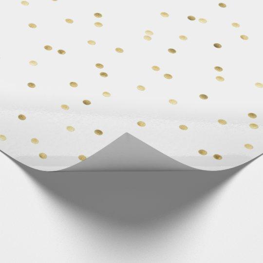 gold foil confetti dots wrapping paper