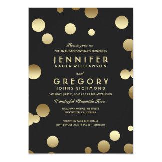 Gold Foil Confetti Engagement Party 13 Cm X 18 Cm Invitation Card
