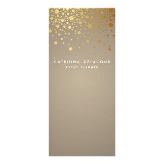 Gold Foil Confetti Modern Business Rack Card