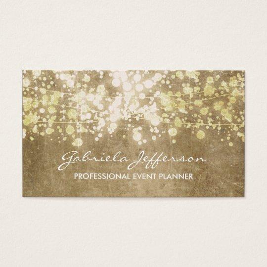 Gold Foil Confetti Vintage Elegant Business Card