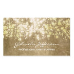 Gold Foil Confetti Vintage Elegant Pack Of Standard Business Cards