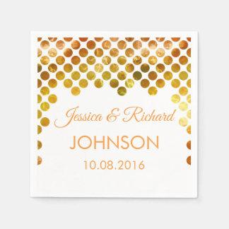 gold foil confetti wedding disposable napkin