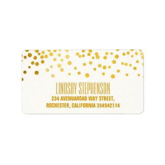 Gold Foil Confetti Wedding Label
