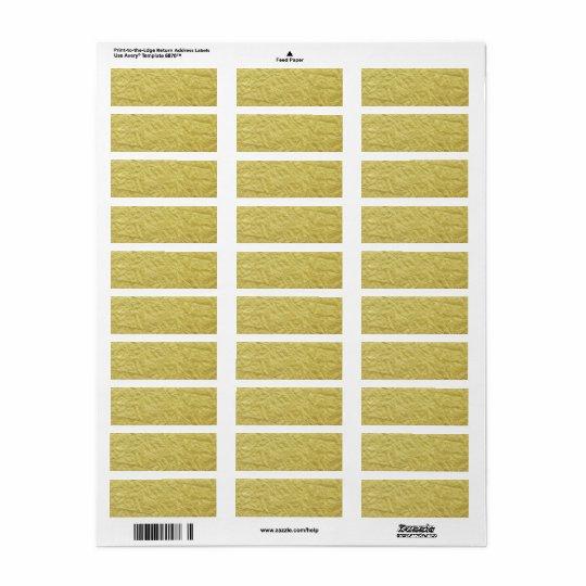 Gold Foil Custom Background Textured Return Address Label