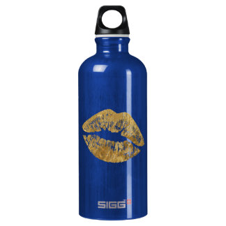 Gold Foil Effect Kiss Sigg Water Bottle