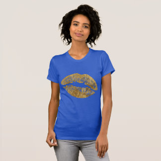 Gold Foil Effect Kiss T Shirt