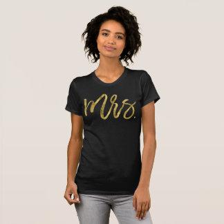 Gold Foil Effect Mrs Bride Shirts