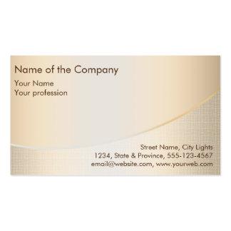 Gold Foil Elegant Retro Financial Services Pack Of Standard Business Cards