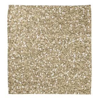 Gold Foil Faux  Glitter Bandana