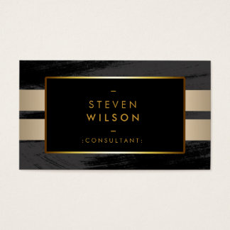 Gold Foil Faux Web Modern Computer Financial Business Card