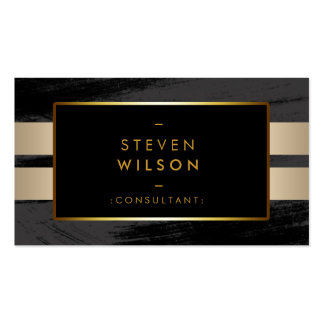 Gold Foil Faux Web Modern Computer Financial Pack Of Standard Business Cards