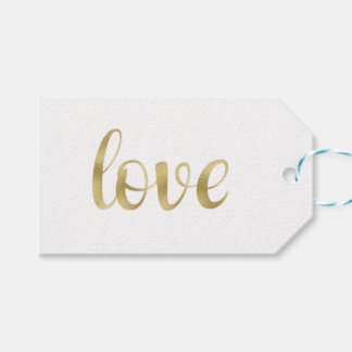 Gold foil favour tags