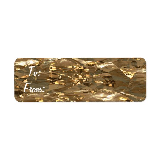 Gold Foil Gift Tag Stickers