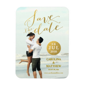 Browse the Save the Date Magnet Collection and personalise by colour, design or style.