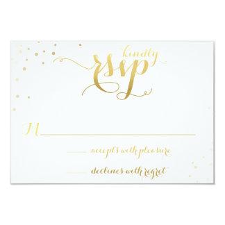 Gold Foil Glamour Wedding Invitation RSVP Card