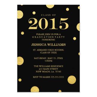 "Gold Foil Graduation Invitations 5"" X 7"" Invitation Card"