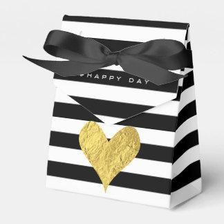 Gold Foil Heart Favour Box