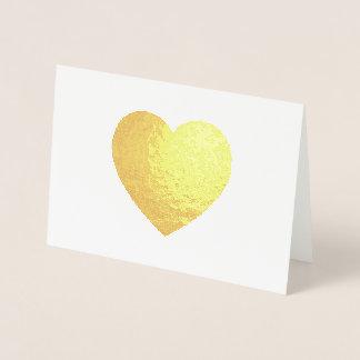Gold Foil Heart Foil Card