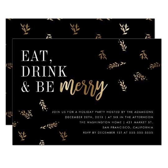 Gold Foil Leaf Eat Drink & Be Merry