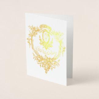 Gold Foil Let Them Eat Cake Folding Card