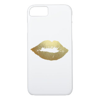 Gold Foil Lips Fashion Device Case
