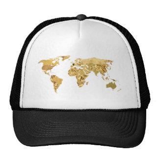 Gold Foil Map Cap