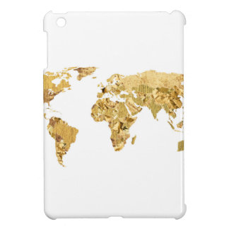 Gold Foil Map Cover For The iPad Mini