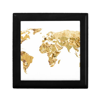 Gold Foil Map Gift Box