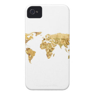 Gold Foil Map iPhone 4 Cover