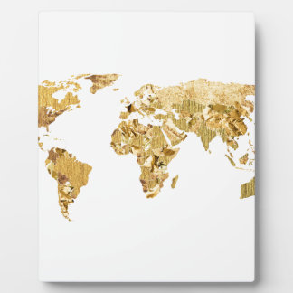 Gold Foil Map Photo Plaque