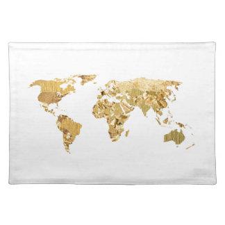 Gold Foil Map Placemat