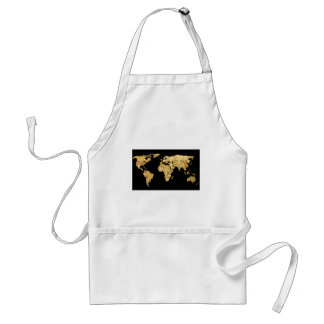 Gold Foil Map Standard Apron