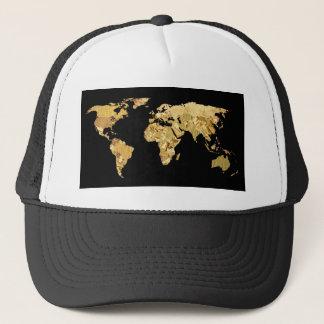 Gold Foil Map Trucker Hat