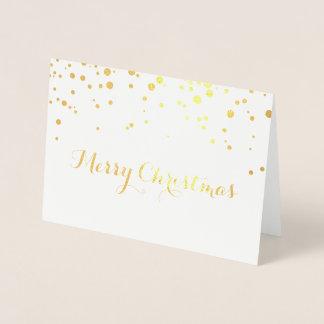 Gold Foil Merry Christmas Card