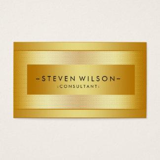 Gold Foil Metal Professional Modern Elegant Black