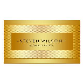 Gold Foil Metal Professional Modern Elegant Black Pack Of Standard Business Cards