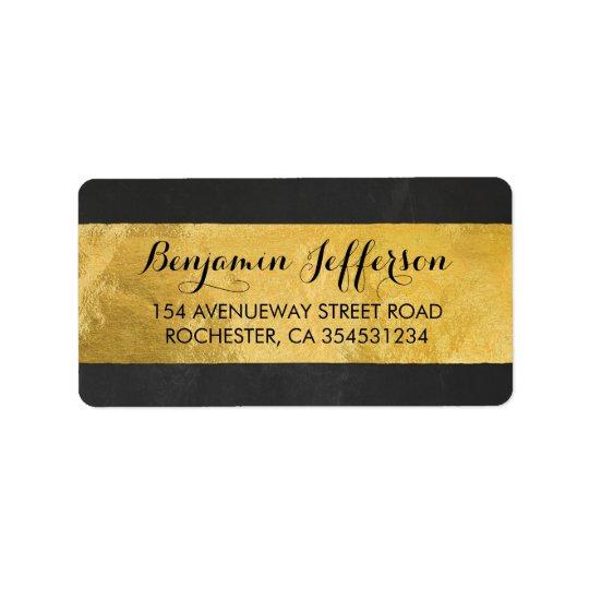 Gold Foil Modern Wedding Label