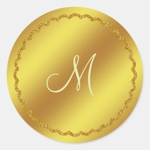 Gold Foil Monogram Sticker