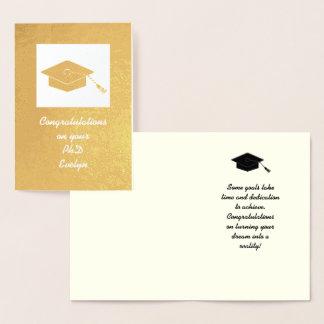 Gold Foil PhD Graduation Card