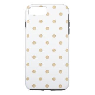 Gold Foil Polka Dots iPhone 7 Plus, Tough iPhone 7 Plus Case