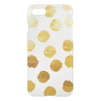 Gold Foil Polkadot iPhone 7 Case