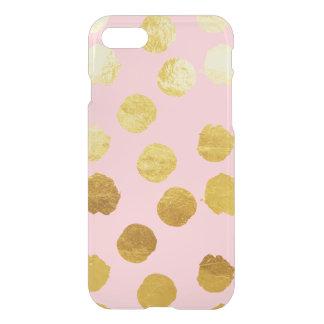 Gold Foil Polkadot & Pink iPhone 7 Case