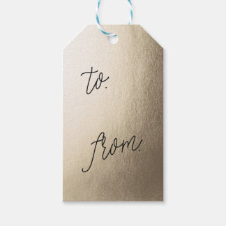 GOLD FOIL present gift tags